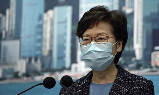 File photo of Carrie Lam. (Xinhua)